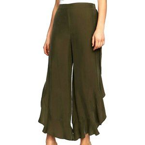 1.STATE Olive Green Ruffled Hem Pants Size 10